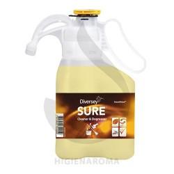Desengordurante para sujidade difícil e limpeza de pavimentos - SURE CLEANER & DEGREASER SMARTDOSE 1,4L