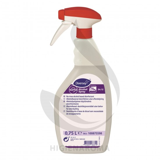 Desinfetante à Base de Álcool para superfícies - SUMA ALCOHOL SPRAY D4.12 750ML