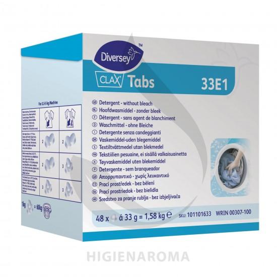 Pastilhas detergente para Lavagem de Roupa 48 doses CLAX TABS