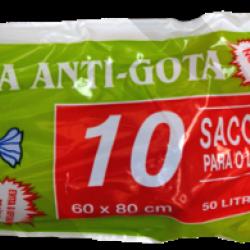 SACOS DE LIXO 50L PRETO