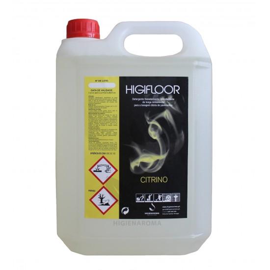 Detergente Desinfectante Odorizante de alta remanência para pavimentos  - HIGIFLOOR CITRINO